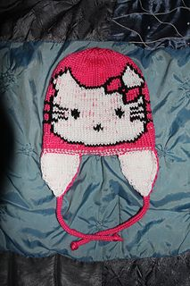 Hello Kitty hat http://www.ravelry.com/patterns/sources/mary-ann-morans-ravelry-store