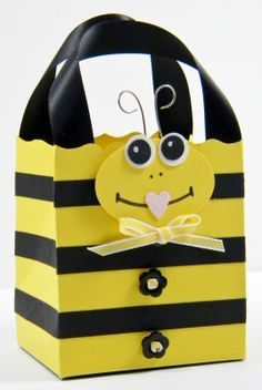 Punch Art Gift Bag - Bee - bjl, with printable instructions