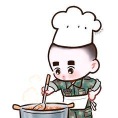 Exo Imagines, Exo Cartoon, Exo Anime, Cute Love Pictures, Exo Fan Art, Exo Do, Exo Xiumin, Korean Art, Kpop Fanart