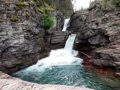 St. Mary Falls, Glacier National Park, Montana, United States.