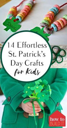 Patricks Day Crafts for Kids, Kid Crafts, Crafting for Ki St Patricks Day Crafts For Kids, St Patricks Day Food, St Patrick's Day Crafts, Holiday Crafts For Kids, Kids Christmas, Holiday Fun, Diy Crafts, Holiday Ideas, Crafts For Seniors