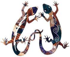 Southwest Geckos Metal Wall Art