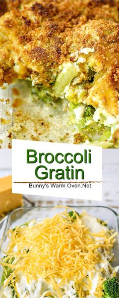 Broccoli Gratin is a delicious baked side dish. Easily served for dinner or special occasions. Broccoli Gratin is a wonderful way to serve broccoli. Broccoli Gratin, Broccoli Dishes, Broccoli Recipes, Vegetable Recipes, Vegetarian Recipes, Cooking Recipes, Healthy Recipes, Cooking Broccoli, Dinner Side Dishes