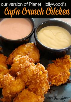 This cap'n crunch chicken is so sweet and yummy and the mustard sauce balances out the flavor perfectly. chicken recipes dinners,cooking and recipes Captain Crunch Chicken, Tasty, Yummy Food, Restaurant Recipes, Dinner Recipes, Dinner Ideas, Appetizer Recipes, Dessert Recipes, Desserts