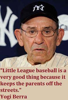 Yogi Berra on Little League Little League Baseball, Sports Baseball, Baseball Mom, Baseball Players, Baseball Wall, Baseball Stuff, Baseball Cards, New York Yankees, Go Yankees