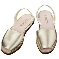 Gold Leather Varca Sandals - Just £39 #menorca #summer