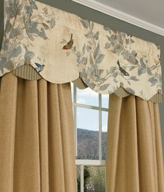 Additional Views: Aviary Lined Layered Scalloped Valance
