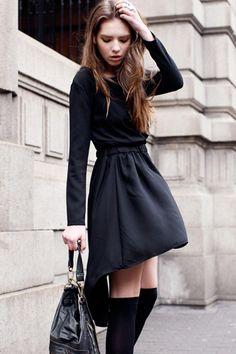 Anomalous Black Shift Dress