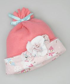 Take a look at this Pink Snowman Rosette Beanie by Heavenly Things for Angels on Earth on #zulily today!