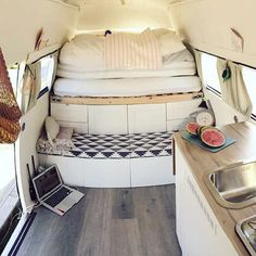 Lay down in this warm van and be refreshed!  @nestenikkjeredd
