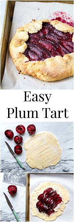 Plum galette recipe using summer stone fruit. I halved Martha Stewart's recipe to make a mini fruit tart, and loved it!