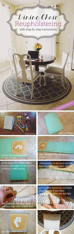 DIY // Dining Chair Reupholstering | Oh Everything Handmade