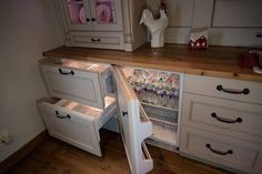 Under counter freezer drawers with an under counter refrigerator. LIKE?