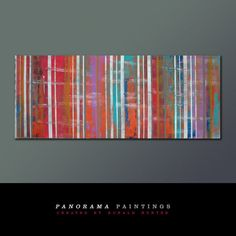 Landscape Abstract painting   Striped Red and by PanoramaPaintings, $419.00