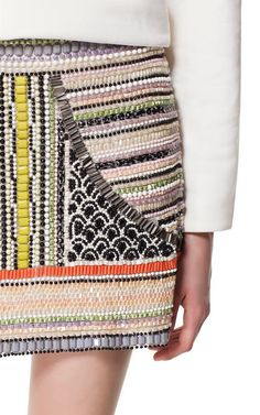 beaded mini - Zara