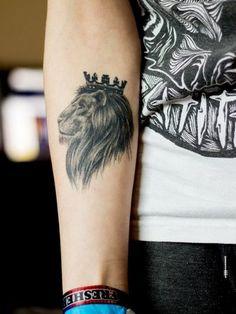 Girl Arm Lion Tattoo - http://99tattooideas.com/girl-arm-lion-tattoo/ #tattoo #tattoos #ink
