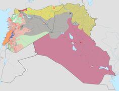 Gli Arcani Supremi (Vox clamantis in deserto - Gothian): Mappa dell'Isis a fine settembre 2016