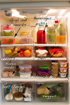 PrepAhead and Dine In: A fridge that encourages healthy eating...thanks Pinterest..