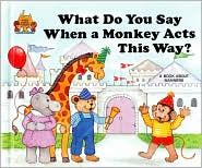 What do you say when a monkey acts this way.....my little poots favorite book