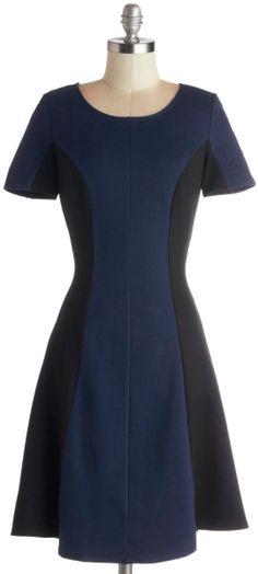 Dash Of Contrast Dress - Lyst