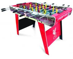 Liverpool HY-PRO Licensed 4ft Liverpool Table Football The 4ft officially licensed club football table with fixed legs for extra stability. This football table is designed with the stadium name with graphics of the clubs crest on each side and finished wi http://www.comparestoreprices.co.uk/snooker-and-pool-tables-and-equipment/liverpool-hy-pro-licensed-4ft-liverpool-table-football.asp