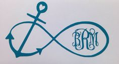 Anchor Infinity Monogram Decal by VinylCreations6 on Etsy, $2.00