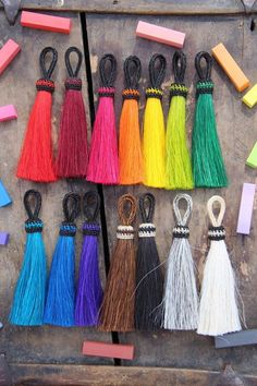 Solid Brights Large Dyed Horse Hair Tassels // WomanShopsWorld