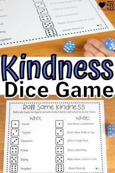 Make kindness a game and more of a habit with this roll some kindness dice game from Coffee and Carpool. Kids can play to speak and act with kindness more often. Parenting Articles, Parenting Hacks, Boredom Busters For Kids, Kindness Challenge, Kindness Activities, Parenting Teenagers, Baby Care Tips, Dice Games, School Readiness