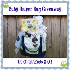 Diaper Bag Giveaway – Packed Full of Baby Essentials!! (ends 8/1)
