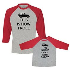 Amazon.com  We Match! This Is How I Roll   This Is How I Roll With Daddy  Matching Adult Baseball T-Shirt   Child T-Shirt Set (Youth X-Small T-Shirt 94a86cb47cf76