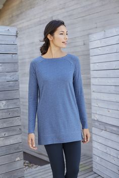 Pure Jill striped boat-neck tunic
