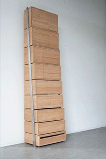 Coool storage - you pull out the lower sections and use them as steps to reach the higher sections.