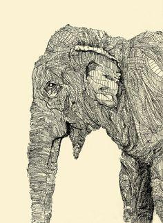 I <3 elefantes. The Spanish pronunciation mind you.