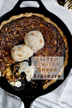 House of Bren: Salted Almond Chocolate Espresso Thanksgiving Pie