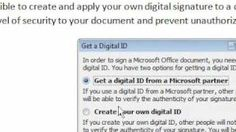 How to create a digital signature in Word, via YouTube.