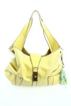 Jessica Simpson Lime Green Embossed Shoulder Bag - $32
