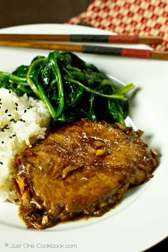 Asian Pork Chop (Ginger Soy Sauce) | Easy Japanese Recipes at JustOneCookbook.com