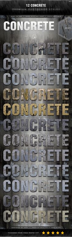 12 Concrete Styles Vol.4 - Text Effects Styles