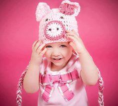 Newborn Photo Prop Photography Props Animal Hat Pig by handmaknit