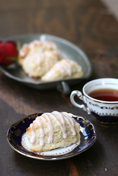 Rose Water Vanilla Scones