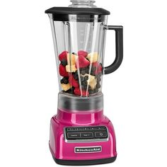 Kitchenaid 5-Speed Diamond Blender ($136) ❤ liked on Polyvore featuring home, kitchen & dining, small appliances, raspberry, ice blender, diamond blender, kitchen aid small appliances, kitchenaid small appliances and kitchen aid diamond blender