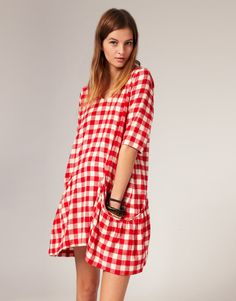 Ganni Gingham Deep Pocket (!!!) Dress  I adore gingham!  How cute would that be in winter over a black turtleneck and leggings?
