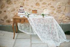 Wedding cakes, cake buffet inspiration, naked red velvet, chocolate cake, lemon raspberry cake | Destination Greek Wedding