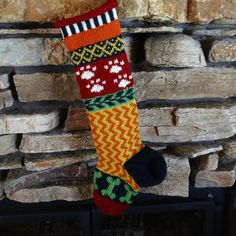 Knit Christmas Stocking for Dogs and Dog Lovers by WarmedbytheHearth