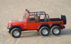 6x6 Jeep pickup