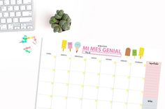 Dibucos: Planificador mensual 'helados': tu planning para u...