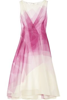 Lela Rose | Printed silk-organza dress | NET-A-PORTER.COM