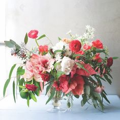 Poinsettas, amaryllis, paperwhites, eucalyptus and rananculus