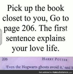 Pinning this because its books I dont want a love life Harry hestitated. Page 206, Harry Potter and the Chamber of Secrets