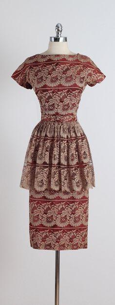 Vintage Dress by Meg Madison 50 Fashion, Retro Fashion, Vintage Fashion, Fashion Outfits, Womens Fashion, Vintage 1950s Dresses, Vintage Wear, 1950s Outfits, Vintage Outfits